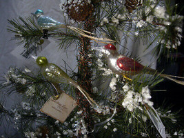 3 Bethany Lowe Vintage Bird Clip Ornaments  image 1