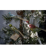3 Bethany Lowe Vintage Bird Clip Ornaments  - $29.99