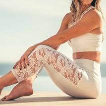 Onzie Bridal White Lace Stunner Capri Leggings Size M/L