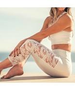 Onzie Bridal White Lace Stunner Capri Leggings Size M/L - $64.90+