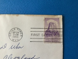First Day Issue stamp Devil's Tower 50th Anniversary - $4.00