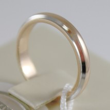 18K YELLOW WHITE GOLD WEDDING BAND UNOAERRE RING 5 GRAMS MARRIAGE MADE IN ITALY image 2
