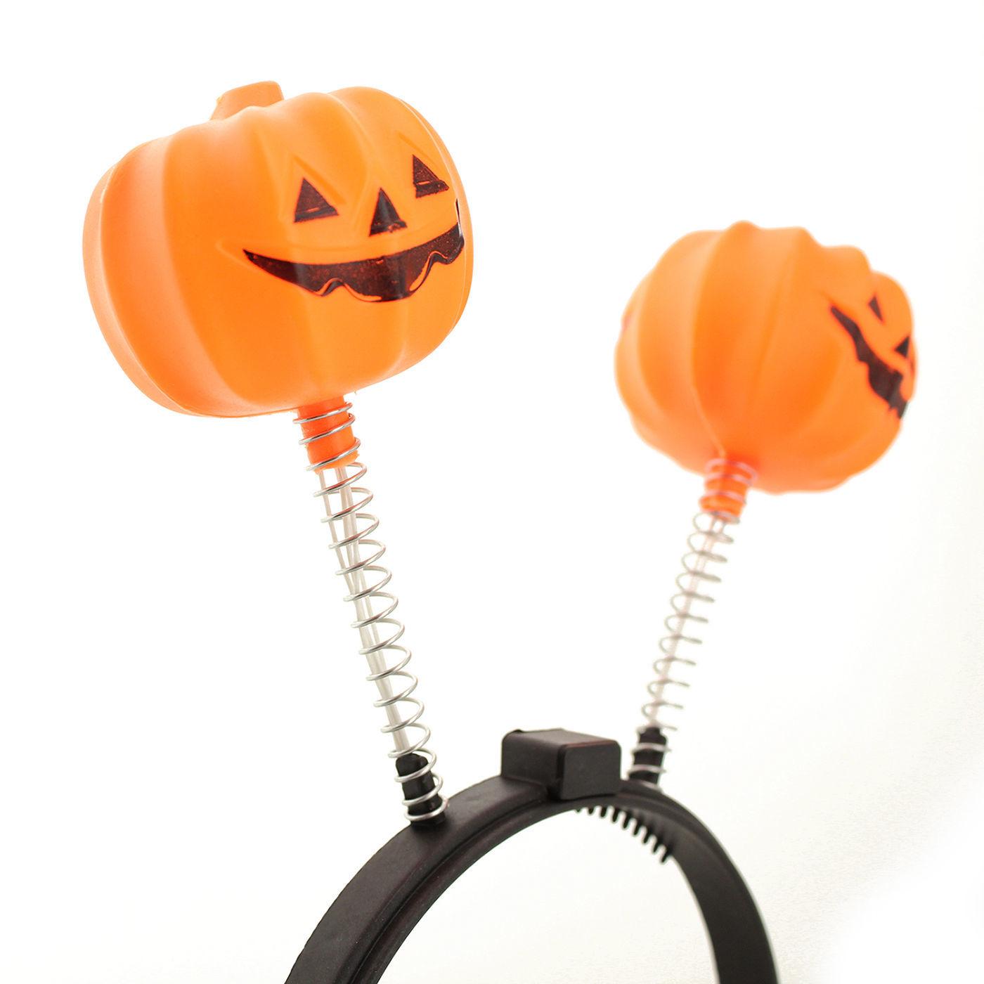 Halloween LED Flashing Light Up Pumpkin Headband Party Costume Prop Accessory