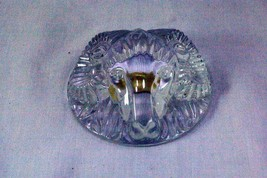 Val St. Lambert Rams Head Crystal Paper Weight - $35.09