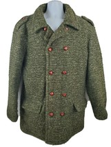 Diesel Wool Coat Jacket Men's Size XL Brown Button Up Military - $94.04