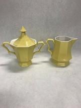 Vintage Independence Ironstone Interface JAPAN yellow sugar creamer lid ... - $39.59