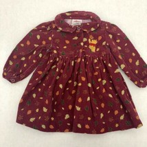 Infant Girls DISNEY STORE Winnie The Pooh Corduroy Dress Size 12 Months - $18.53