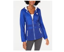 Tommy Hilfiger Womans Medium Sport Hooded Jacket Lapis Blue NEW  - $79.99