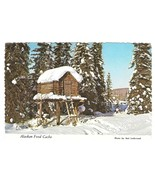 Alaskan Food Cache Hut on Stilts Vntg Alaska Joe 4X6 Postcard Mal Lockwo... - $2.99