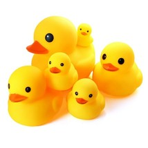 Novelty Place Float & Squeak Six Rubber Duck Family Pack Ducky Baby Bath... - $17.77