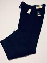 Lauren Ralph Lauren Navy Blue Corduroy Flat Front Pants 36/30 - $65.41