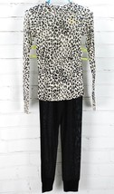 WINTERSILKS 2 Piece Set Leopard Print Shirt Black Pants Girls XXS 2/3 Ba... - $47.52