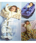 Baby Infant Wrap Bunting Car Seat Cover Butterick B4416 Sewing Pattern - $6.92