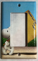 Peanuts Snoopy Turn off the Light Switch Power Outlet Cover Plate Home Decor image 3