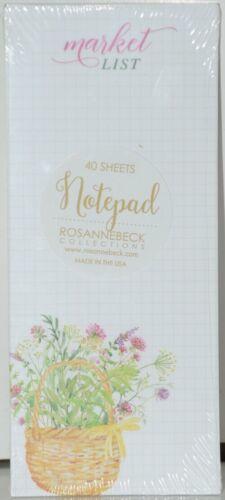 Rosanne Beck Collections 072 0394 Market List Florals Notepad 40 Sheets