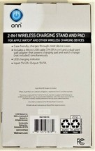ONN 2-in-1 Wireless Charging Stand & Pad for Wireless Devices (Apple/Samsung) image 2