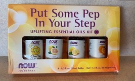 NOW Foods Put Some Pep in Your Step Essential Oil Blend Kit 4 10 mL ctns... - $11.64