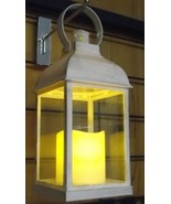 """Patina White Decorative Lantern 37893 With Battery Operated Candle 9-1/2""""  - $7.92"""