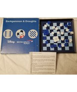 Disney Travel British Airways Badkgammon & Draughts Game - $14.97