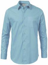 Men's Solid Long Sleeve Formal Button Up Standard Barrel Cuff Dress Shirt image 11