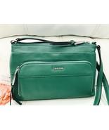 NWT Calvin Klein L-Classics Key Item Pebble Leather Crossbody Leaf Green... - $87.12