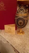 Emu Egg FABERGE egg style Russian egg Trinket Box ANTIQUE Jewelry box 1992 / Rus - $999.00