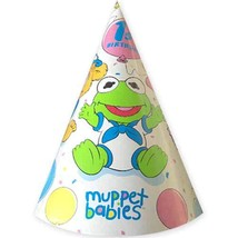 Muppets Babies Vintage 1985 1st Birthday Cone Hats 8ct - $17.38