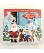 Rudolph the Red Nosed Reindeer Crochet Kit Thunder Bay Press Make 12 Fig... - $24.00