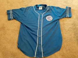 Vintage Lee Sport Large Chicago Cubs Button Up Large MLB Cubbies jersey - $28.45