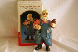 "Kurt S. Adler 1990 Santa Claus Toy Maker Fabric Mache Figurine 10 1/2"" In Box - $25.19"