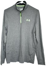 Under Armour Men's Loose Cold Gear 1/4 Zip Grey & Green Long Sleeve Shirt SM image 1