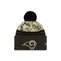 Era 2016 Men's Salute to Service Knit Hat One Size, Los Angeles Rams - $46.77