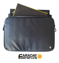 "Faraday Bag XL - 15.6"" Black PU Leather Shielding GPS WiFi Signal Blocking - $46.74"