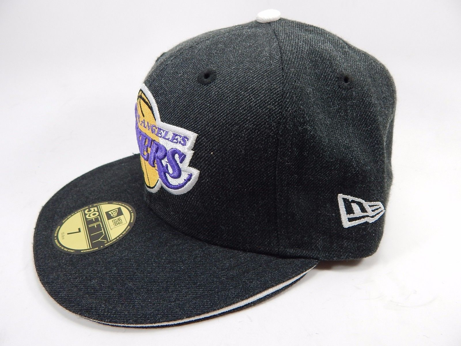 Los Angeles Lakers New Era Size 7 Fitted 59Fifty NBA Cap Hat Charcoal Gray