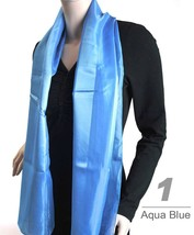 Women's Striped Sheer Polyester Satin Scarf SPS1301 - $14.99