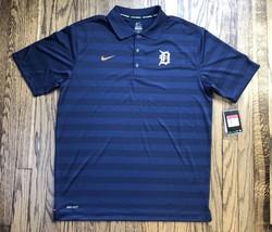 3081577d869e NWT Nike Mens Detroit Tigers Dri Fit Short Sleeve Polo Shirt Size Large -   30.88