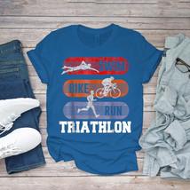 Swimming Funny Tee Swim Bike Run Why Be Good At One Sporttriathlon Unisex - $15.99+