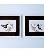 Set of Two or Pair of Southwest Birds, Framed Matted Art Prints, Wall De... - $47.00