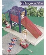 Playground Fun, Annies Plastic Canvas Pattern FP35-02 Doll Slide Swing W... - $21.95