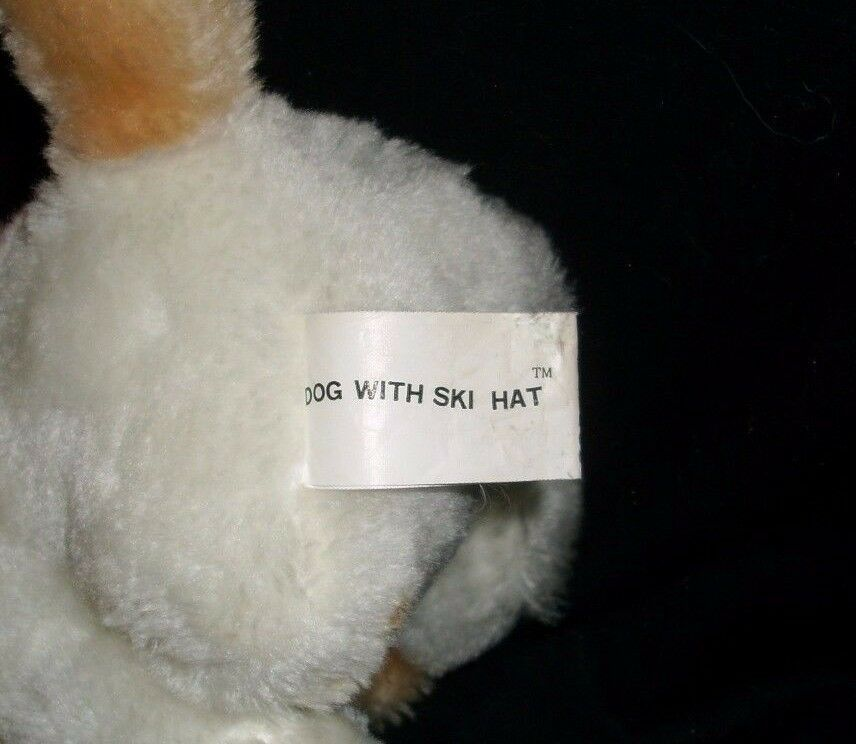 "7"" VINTAGE 1984 COMMONWEALTH PUPPY DOG WITH SKI HAT STUFFED ANIMAL PLUSH TOY"