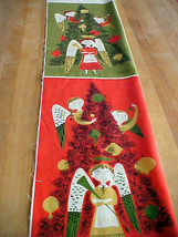 Christmas Angels Fabric Tammis Keefe MCM Tribute Reproduction Modern Miller - $10.22