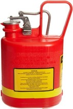 Justrite 14160 Type I Polyethylene Safety Can with Stainless Steel Fitti... - $49.29