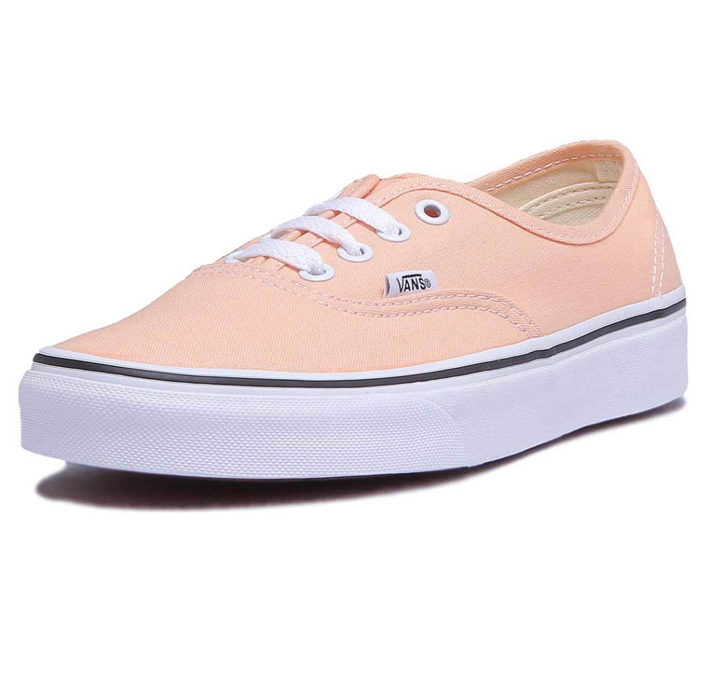 VANS Authentic Bleached Apricot/True White Skate Shoes Womens Size 7.5
