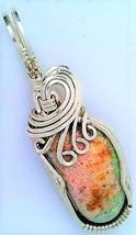Australian Opal Silver Wire Wrap Pendant 67 - $34.00