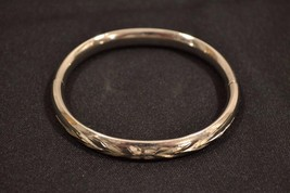 Sterling Silver .925 Engraved Bangle Bracelet   12.9 Grams - $30.00