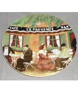 GBC Guy Buffet MARCHE AUX FLEURS PATTERN Dinner Plate CAFE LA PROVENCE - $49.49