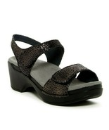 DANSKO Sonnet Black Shimmer Sandals sz 41, 10 women - $38.51