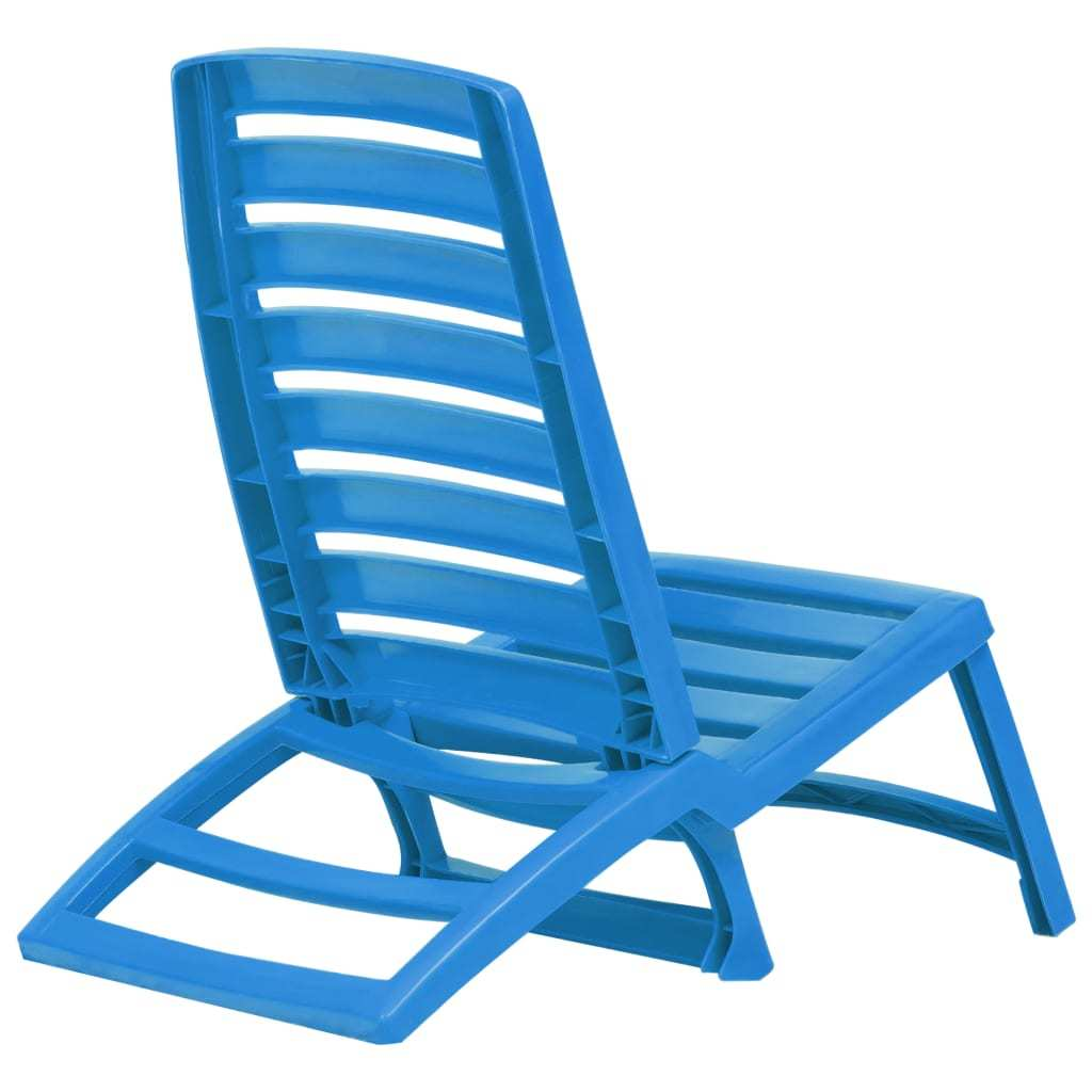 vidaXL 4x Folding Beach Chairs Plastic Beach Seat Outdoor Chair Multi Colors image 12