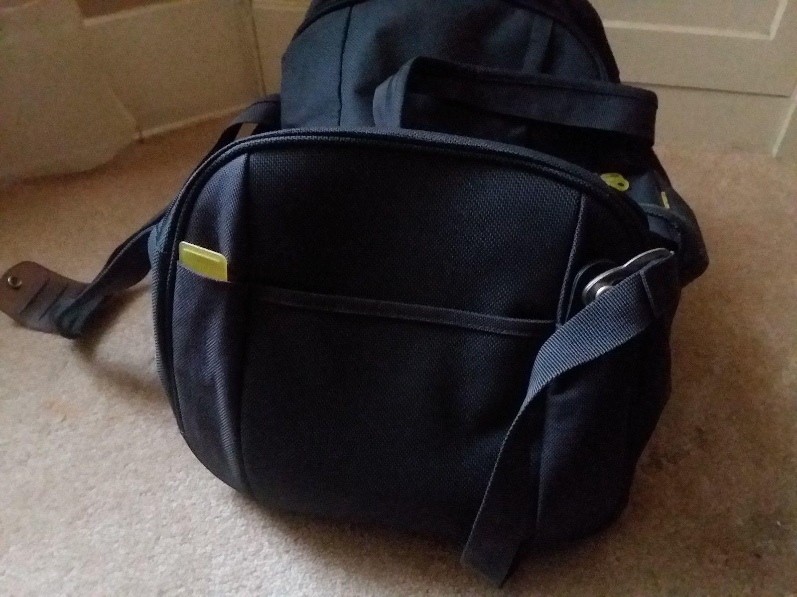 Samsonite Gray Yellow Travel Case Duffel Luggage image 4