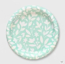 "NIP Spring Shop Round Floral Dinner Paper Plates, 10.38"" Diameter. 20 Ct."